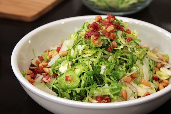 Shaved Brussels Sprouts Salad | YUM. | Pinterest