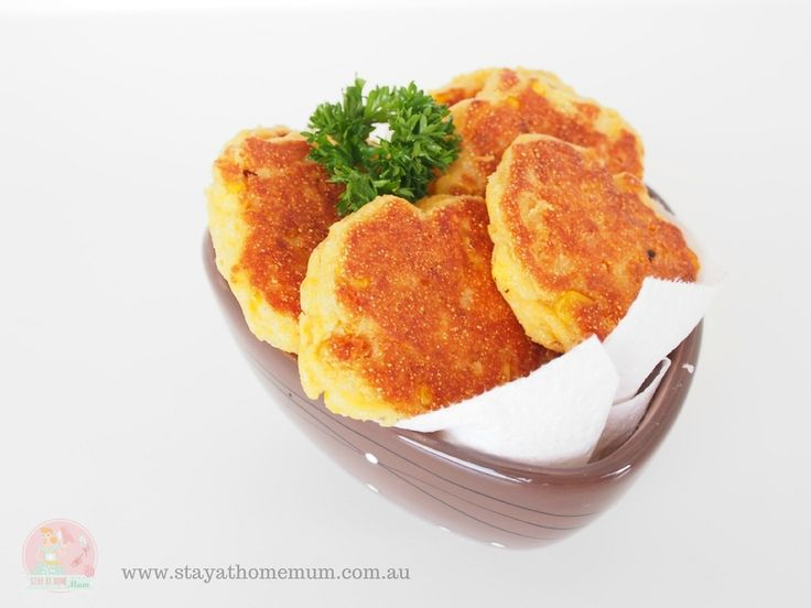Spicy Corn Fritters | Stay at Home Mum #Lunch #Fritters