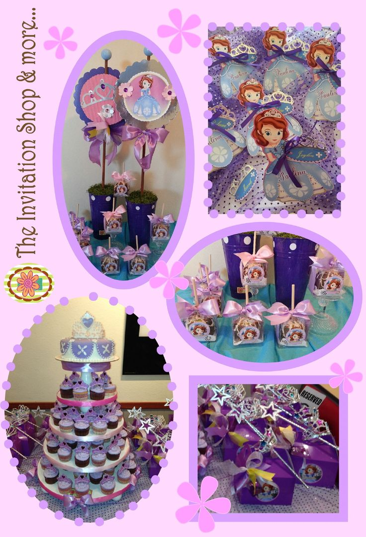 sofia the first party decorations party ideas pinterest. Black Bedroom Furniture Sets. Home Design Ideas