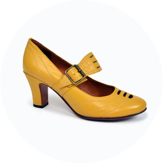 This is a 1920s shoe called The It Girl. We've had tons of fun styling