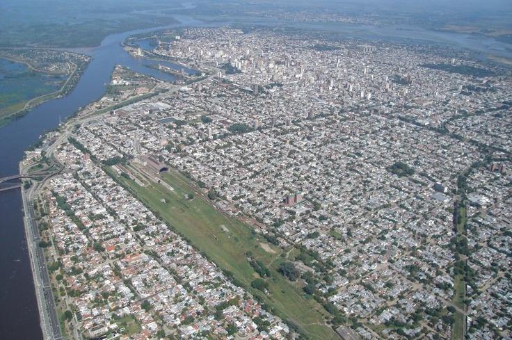 Vista aerea de la ciudad de Santa Fe, Argentina