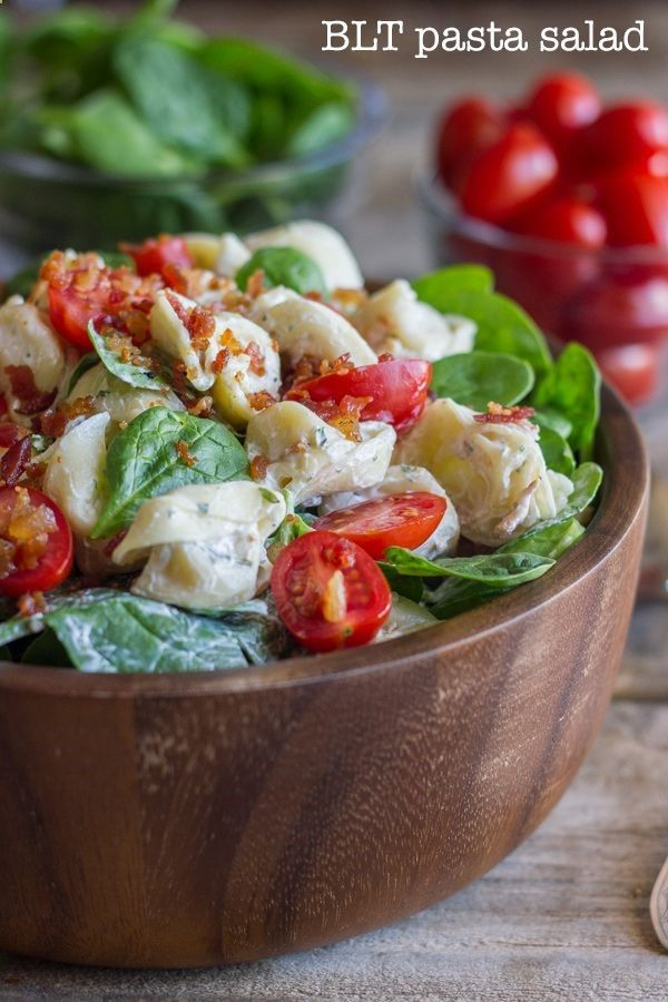 BLT Pasta Salad - Crispy bacon, fresh lettuce, chopped cherry tomatoes ...
