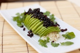 Avocado Crab Roll with Soy Sauce Caviar | HOLIDAYS | Pinterest