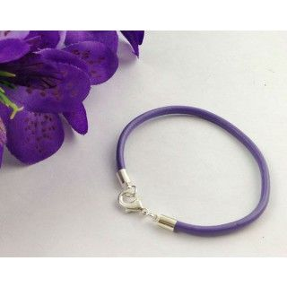 Fashion Leather Silver Lobster Clasp Bracelets