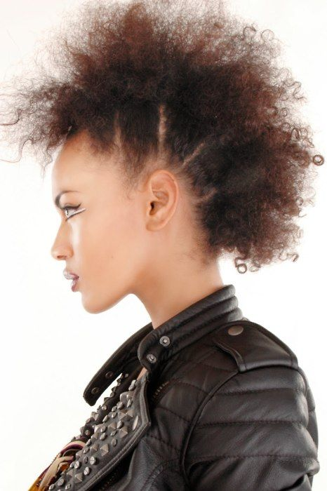 Sectioned Fro-Hawk | Natural Hairstyles