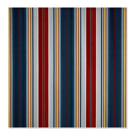 Nautical Red And Navy Blue Shower Curtain On