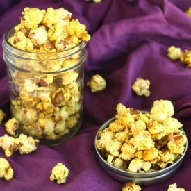 Stovetop Coconut Curry Popcorn is a fun way to spice up your popcorn ...