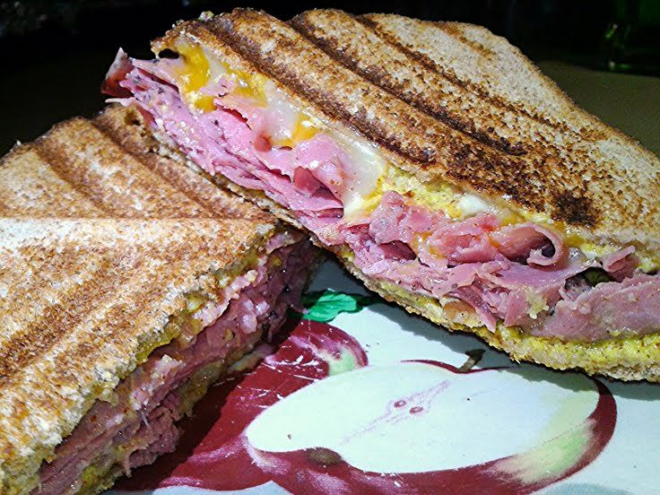 Grilled Pastrami and Cheese with Spicy Brown Mustard (sandwich) | Rec ...