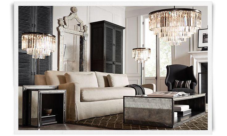 living room mirror chandelier tables love it all rooms restoration