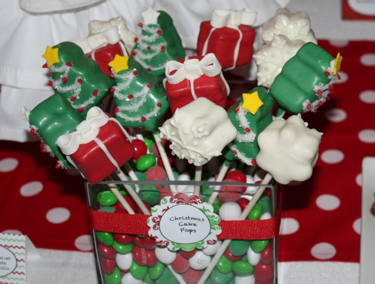 Christmas Cake Pop Ideas Pinterest : Christmas Cake Pops christmas ideas Pinterest