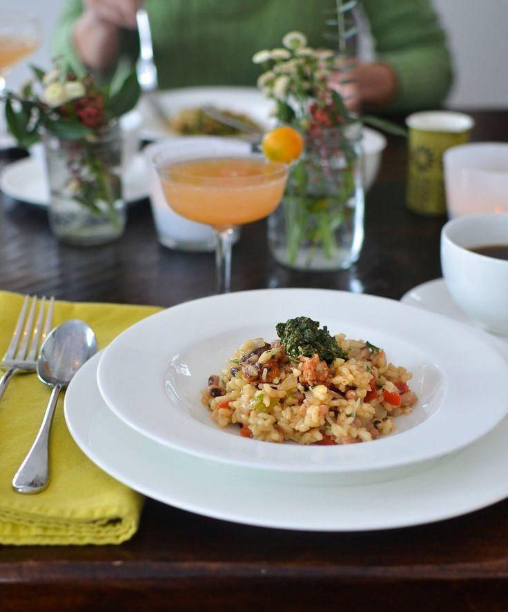 Recipe: Hoppin' John Risotto with Collard Pesto — Recipes from The ...