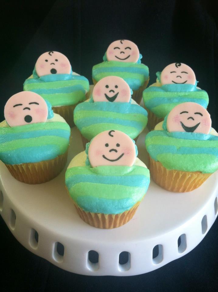 baby boy shower cupcakes parties showers fun ideas pinterest