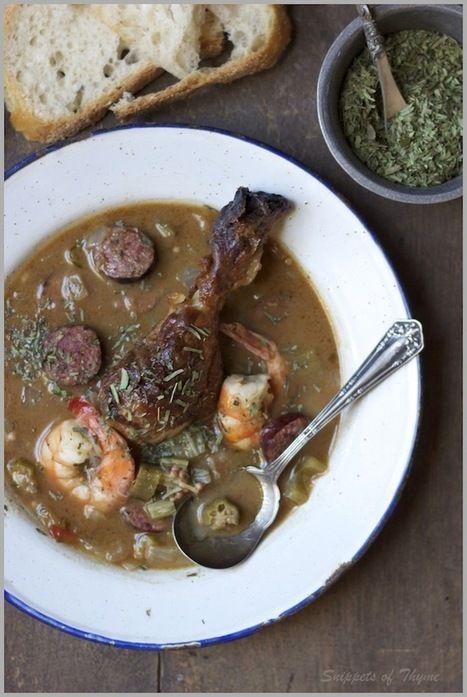- Spicy Shrimp, Andouille Sausage, Roast Chicken, and Okra Gumbo ...