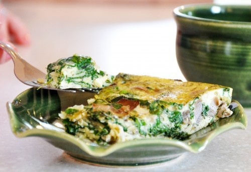 Spinach Mushroom Frittata | recipes | Pinterest