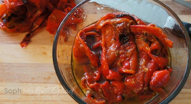 karendoodle Roasted Marinated Red Peppers (this is very close to ...
