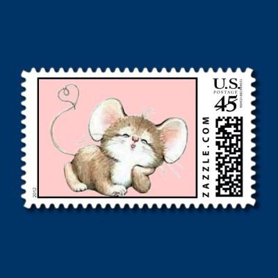 Kissy Mouse Briefmarke by #fstasu58