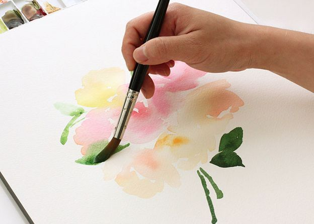 Diy watercolor tutorial diy pinterest for How to paint simple watercolor flowers