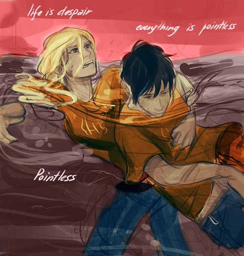 HoO: I would have to say when Percy and Annabeth fell into to tartarus ... Percy And Annabeth Fall Into Tartarus