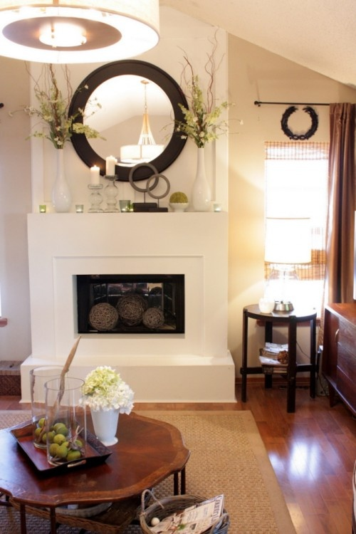 How To Decorate Around A Round Mirror For The Home