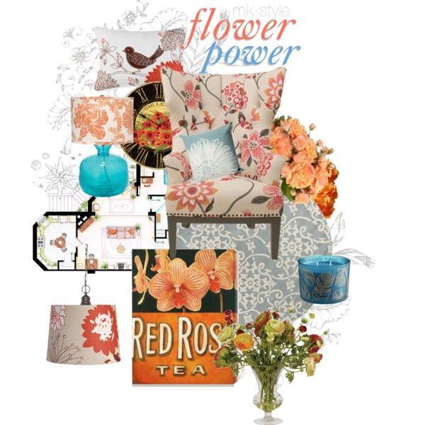 """Flower Power Your Home"" by mk-style on Polyvore"
