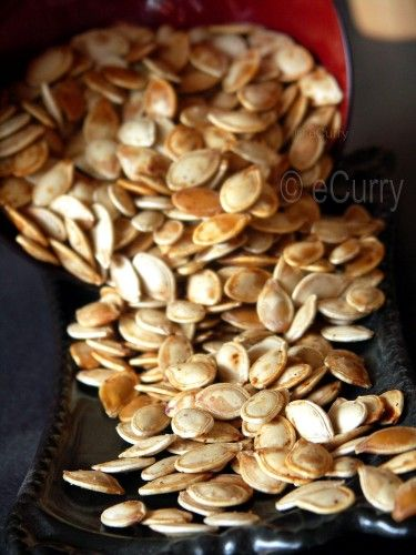 toasted pumpkin seeds (oven, skillet & microwave preparation)