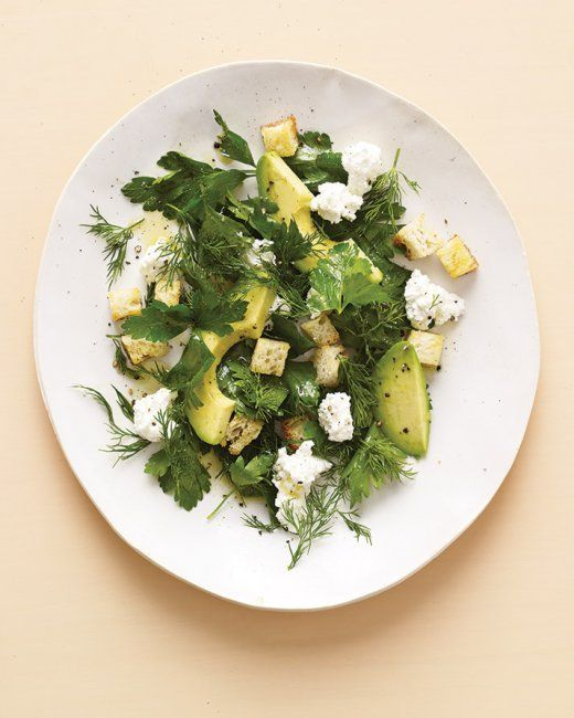 Avocado Salad with Farmer Cheese | Yummy Foods | Pinterest