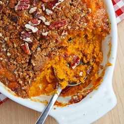 Sweet Potato Casserole with Pecan Crumble. I am going to sub coconut ...