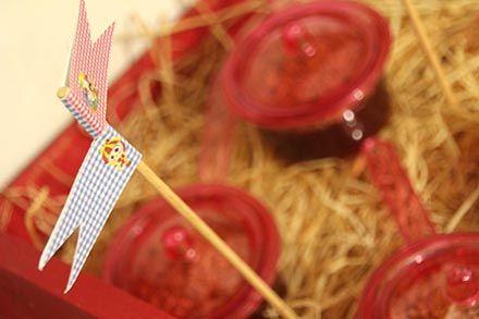 Arraial com Chá de Cozinha - http://www.chocolatesemcalorias.com.br/Arraial-com-Cha-de-Cozinha #Arraial #Caipira #festajunina #Chadecozinha #DIY #party  #sitiodopicapauamarelo #emilia