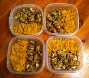 Slow Cooker Chicken Vindaloo and Jicama Rice (4 servings @ 215 cal/ea ...