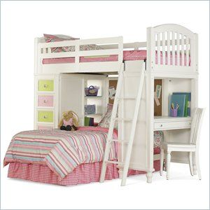 Pulaski Build-A-Bear Pawsitively Yours Kids Loft Bunk Bed in Vanilla ...