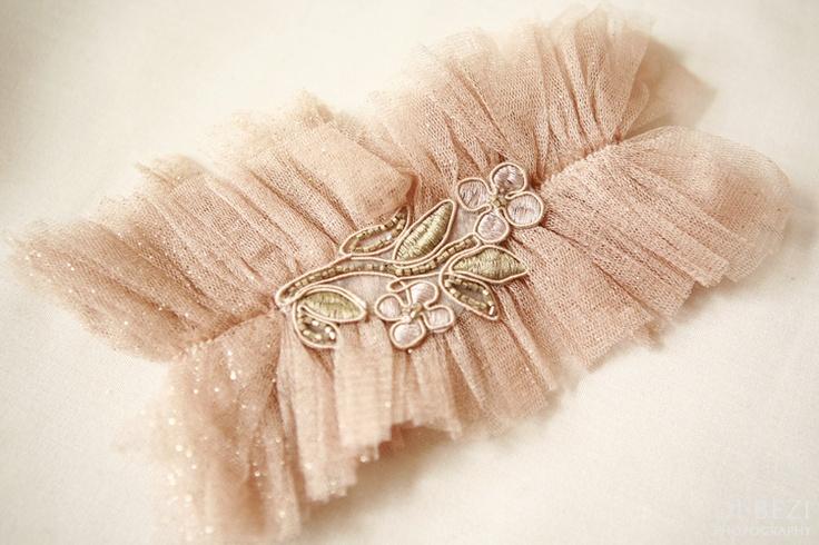 Gorgeous wedding garter!