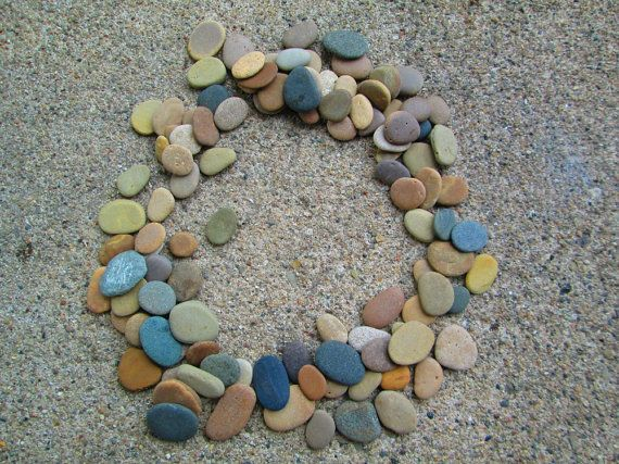 100 small flat beach stones lake michigan mosaic craft for Flat stones for crafts