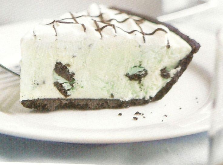 Frozen White Chocolate Grasshopper Mousse Pie Recipe ...