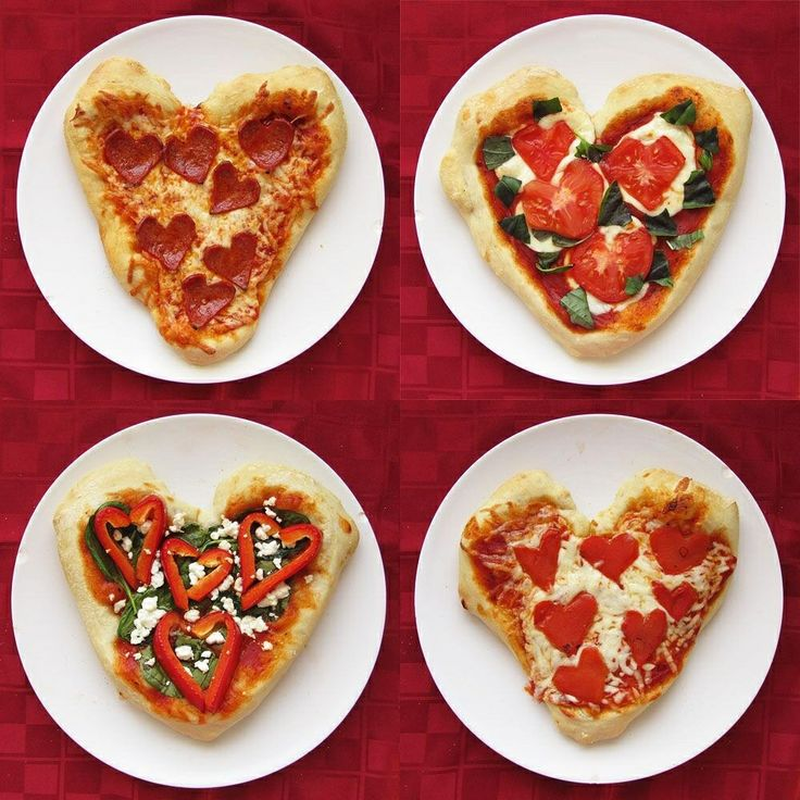 heart shaped pizza valentines day 2014