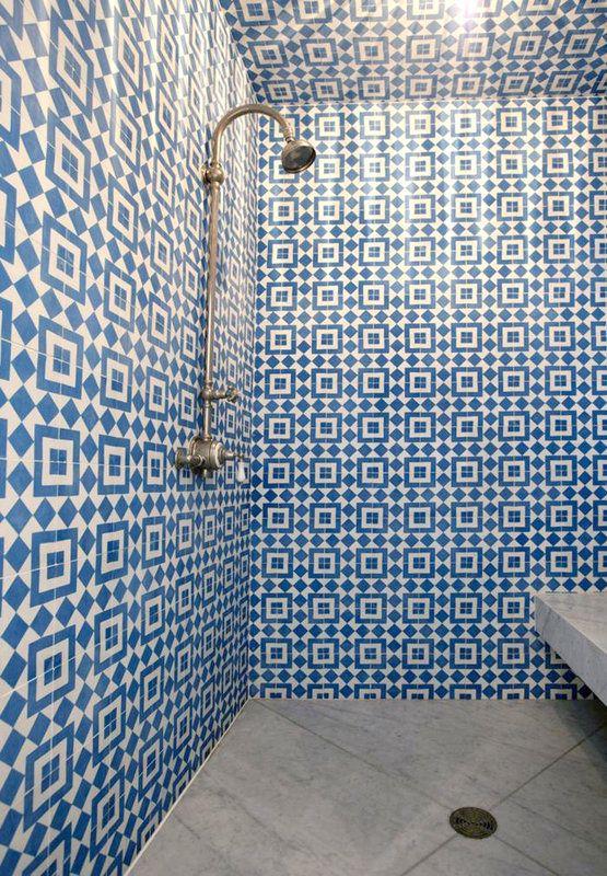 50 granada echo fez cement tiles blue moroccan 8x8 closed
