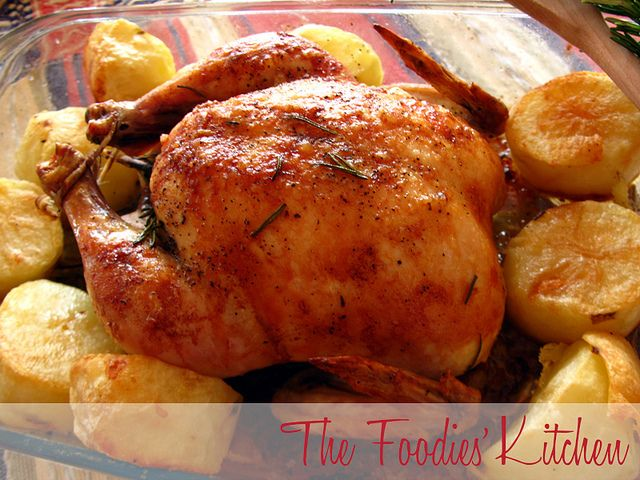 Crisp-Skinned Chicken with Rosemary Potatoes by The Foodies' Kitchen ...