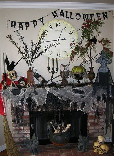 Scary Halloween Room Ideas  Halloween Ideas for fireplace