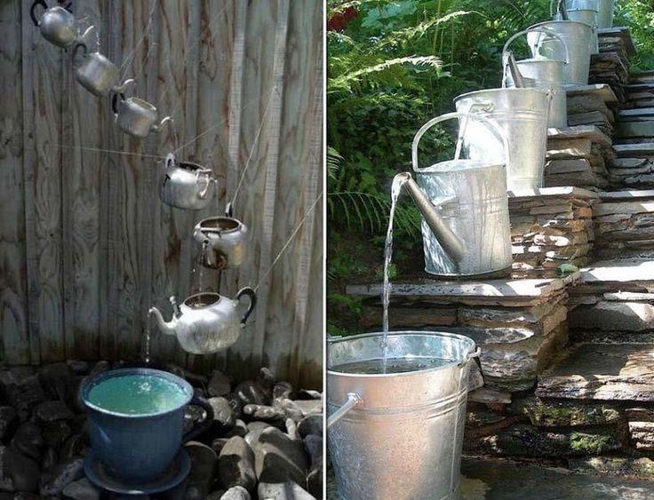 Diy Waterfall Fountain Garden Pinterest