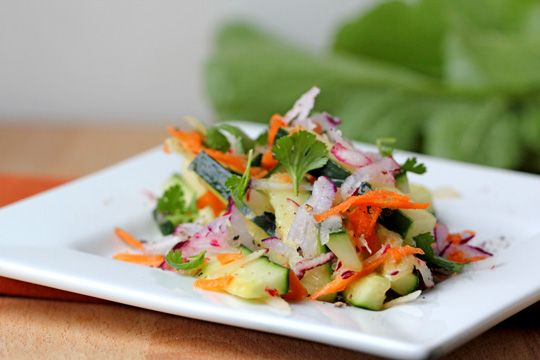 Raw Radish and Cucumber Salad | Salads | Pinterest