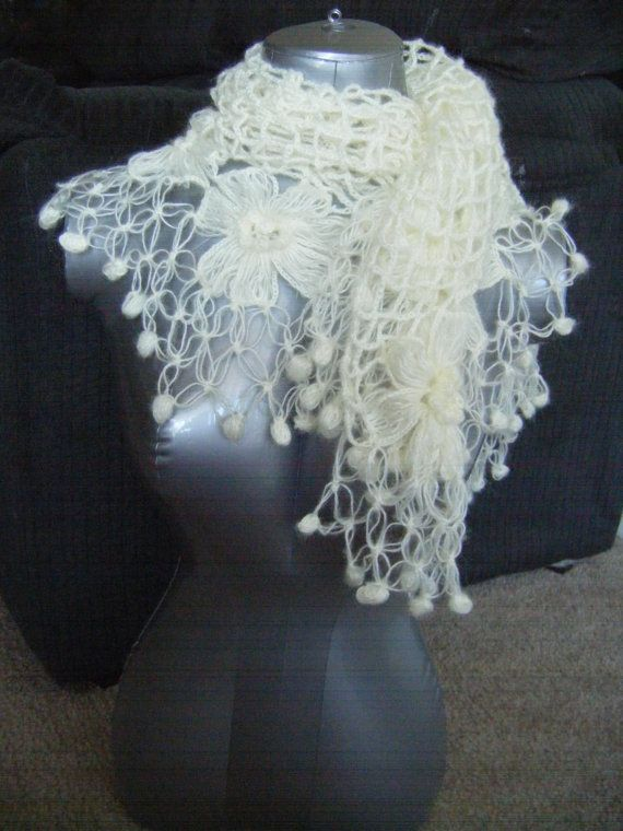 INSTANT DOWNLOAD Bridal Mohair Shawl/Scarf Winter or ...