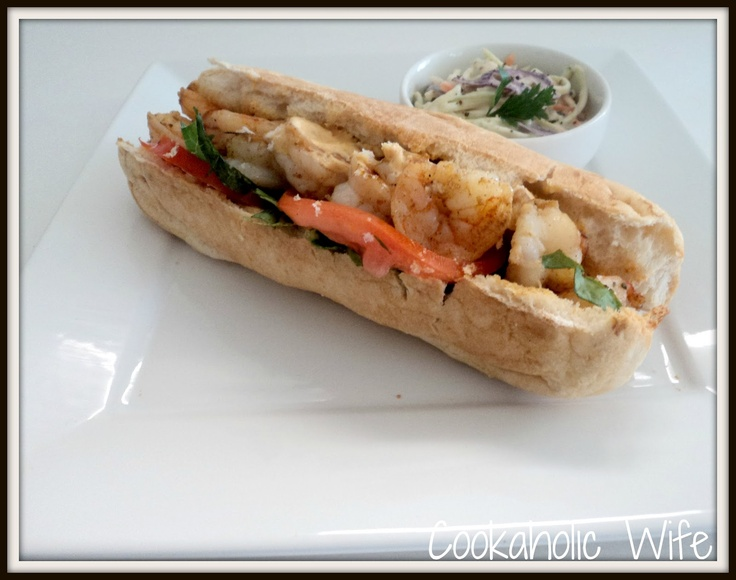 Grilled Shrimp Po Boy Sandwiches | PO' BOY RECIPES | Pinterest