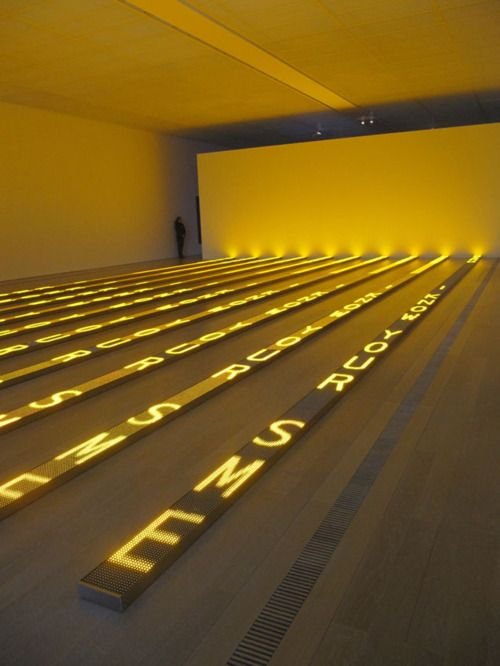 Jenny Holzer For Chicago 2007 10 LED electronic signs with amber ...