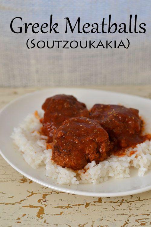 Greek Meatballs (Soutzoukakia) | food | Pinterest