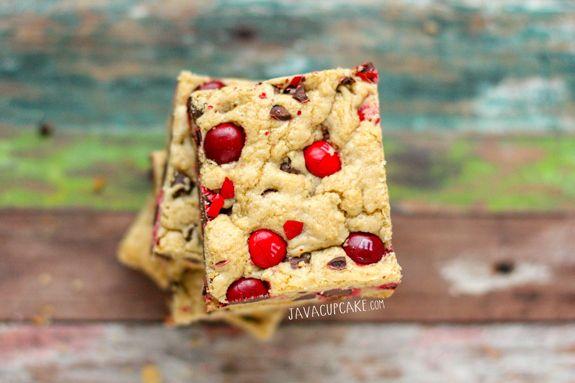 cherry m amp m cookie bars javacupcake com