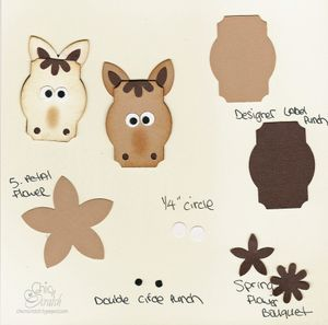 A page full of animals to make with punches                 www.mychicnscratc...
