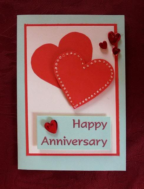 Anniversary card overlapped hearts making pinterest