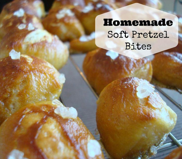 Homemade Soft Pretzel Bites with Homemade Cheese Sauce # ...