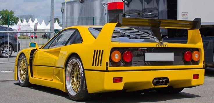 Yellow Ferrari F40Yellow Ferrari Bike