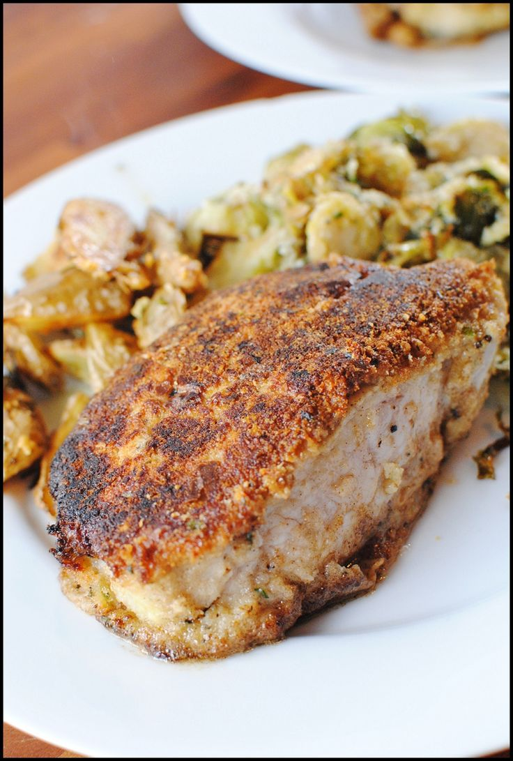 Herb-Crusted Pork Chops | Food from Cafe 305 | Pinterest