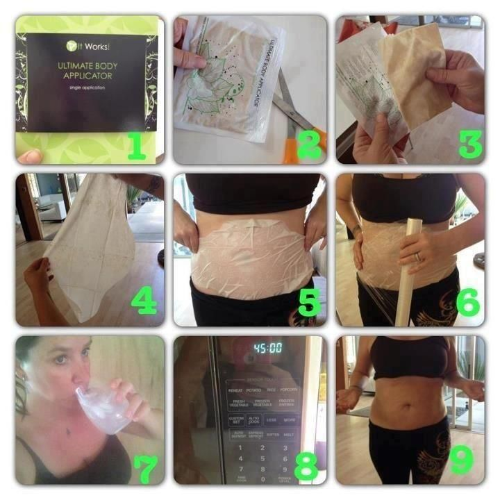 Tightening and toning, as easy as pie.. without all the calories :) Pick up ItWorks wraps today and start your New Years resolution off right!   Facebook.com/Itworkswrapswithamber or Wrapsbyamber@yahoo.com